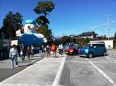こちらは農業祭、「てんけん君」の遊具はチビッ子に大人気!!朝からず~っと飛び跳ねていました。